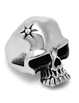 Ring Euramerican Titanium Steel Irregular Silver Jewelry For Daily 1pc
