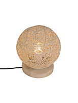 Rattan Contemporary Table Lamp And Rattan Lampshade Woodbase