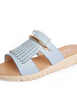 Women's Slippers & Flip-Flops Summer Mary Jane Leatherette Dress Casual Flat Heel Beading Walking