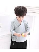 Мальчики Наборы На каждый день Спорт Хлопок Контрастных цветов Зима Длинный рукав Набор одежды