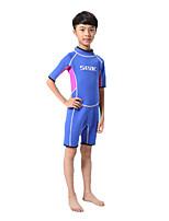 Enfant Costumes humides Résistant aux ultraviolets Tenue de plongée Manches courtes Combinaisons-Plongée Printemps Eté Automne Hiver