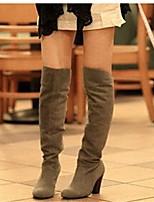 Women's Boots Fall Winter Comfort Leatherette Dress Chunky Heel Walking