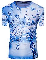 Herren Geometrisch Einfach Aktiv Ausgehen Formal T-shirt,Rundhalsausschnitt Sommer Kurzarm Baumwolle Mittel
