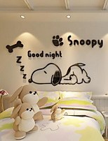 Cartoon Wall Stickers 3D Wall Stickers Decorative Wall StickersAcrylic Material Home Decoration Wall Decal