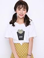 Modèle réel tir à l'été 2017 nouvelle version coréenne de t-shirt manches courtes imprimé à manches courtes