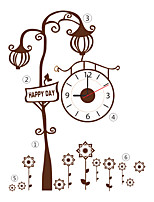 DIY Modern Style Fashion Brown Creative Tree Wall Clock