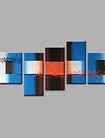 Hand-Painted Abstract Any ShapeModern Five Panels Canvas Oil Painting For Home Decoration