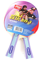 2 Stars Ping Pang/Table Tennis Rackets Ping Pang Wood Long Handle Inverted Pimples 2 Rackets Indoor Performance Practise Leisure Sports-#