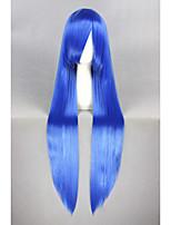 à long 40inch bleu konata étoile Izumi chanceux droite perruque cosplay anime cs-211a