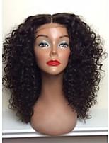 venda imperdível!! 100% frente cabelo humano brasileiro rendas perucas peruca crespos em branco natural, encaracolado rendas frente para a