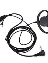 Casque d'écoute type d ptt Écouteur à oreille fbi 1 broche pour casque radio portable hamara portable tlkr t3 t4 t60 t80 mr350r talkie