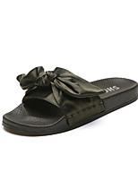 Women's Slippers & Flip-Flops Summer Comfort Silk Casual Flat Heel Satin Flower Walking