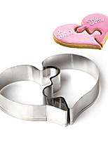 Molde Coração Para Bolo Para Chocolate para Candy Aço Inoxidável Bricolage 3D Ecológico Férias Dia dos namorados