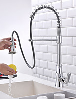 Pull-down Kitchen Faucet Standard Spout Centerset Thermostatic Rain Shower Pullout SpraywithTaps for Kitchen