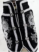 Hunde Weste Hundekleidung Sommer Blume Niedlich Modisch Lässig/Alltäglich Weiß Schwarz