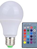 RGB LED Lamp E27 5W  LED RGB Light Lampada LED Bulb 85-265V SMD5050 16 Colors Change with IR Remote Controller