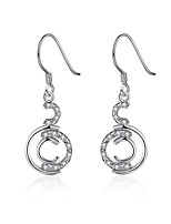 Exquisite Silver Plated Clear Crystal C Style Drop Earrings for Wedding Party Women Jewelry Accessiories