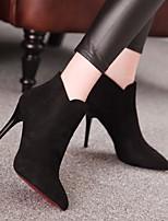 Черный-Для женщин-Повседневный-Полиуретан-На толстом каблуке-Босоножки-Обувь на каблуках