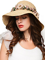 Women's Straw Straw Hat,Vintage Cute Party Casual Patchwork Spring Summer Fall