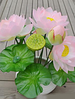 1 Branch Plastic Lotus Tabletop Flower Artificial Flowers