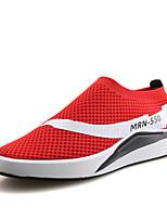Черный Серый Красный-Для мужчин-Для прогулок Повседневный-Тюль-На плоской подошве-Удобная обувь Светодиодные подошвы-Мокасины и Свитер