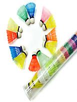 12 × 2 Federball Federbälle Wasserdicht Verschleißfest Dauerhaft für Draußen Leistung Legere Sport Kunststoff Other