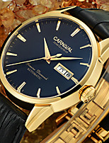 Carnival waterproof Fashion Watch Men Stainless steel Artificial sapphire Automatic Mechanical brown leather Watch relogio masculine