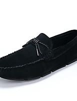 גברים-נעליים ללא שרוכים-סוויד עור-נוחות-שחור אפור אדום חאקי-שטח משרד ועבודה יומיומי-עקב שטוח