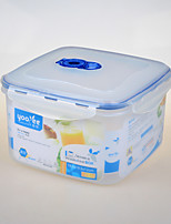 Kithenware Square Shape Vacumm Plastic Container Freezer Safe Container