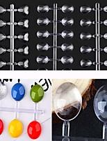 2 Set Transparent Color Nail Color Manicure Doug eye Drops 48 Glass Transparent Color Ellipse Peach Tablets