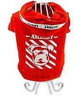 Cães Camiseta Roupas para Cães Primavera/Outono Desenhos Animados Fofo Vermelho Azul