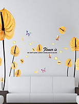 Florals Wall Stickers Plane Wall Stickers Decorative Wall Stickers,Vinyl Material Home Decoration Wall Decal