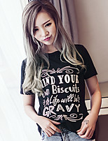 2017 new European and American AliExpress letters printed short-sleeved T-shirt black T
