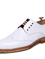 Белый Черный Темно-синий Красный-Для мужчин-Повседневный-ПолиуретанУдобная обувь-Кеды