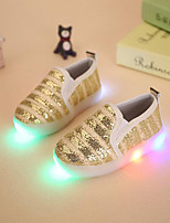 LED's Shoes Girls' Loafers & Slip-Ons Spring Fall Light Up Shoes Flower Girl Shoes Synthetic Party & Evening Dress Casual Flat Heel Gore