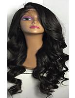 боковая часть длинные вьющиеся волосы парики шнурка бесклеевой бразильские человеческие волосы девственные фронта шнурка объемной волны