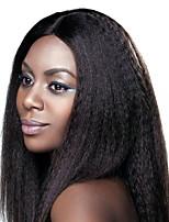 dentelle cheveux perruques avant perruques kinky dentelle droites pour les femmes réelle perruques de cheveux humains cheveux 10-24in