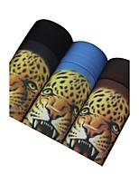 3Pcs/Lot Men's Fashion Sexy Print Animal Print Boxers Underwear Cotton Modal Panties
