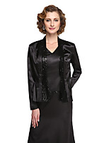 Women's Wrap Coats/Jackets Stretch Satin Wedding Sequin