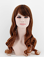 Japan and South Korea fashion life section dark brown natural straight hair natural song high temperature wire wig