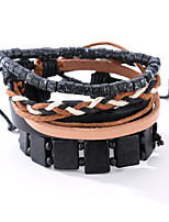 The New Vintage Cowhide Ancient Hand Woven Bracelet Cortical Layers Hand Rope Men's Bracelet Adjustable Size052