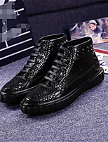 Men's Oxfords Spring Summer Fall Winter Comfort Leather Office & Career Casual Flat Heel Gold Black Silver