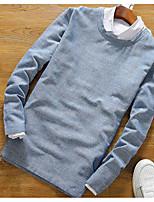 60% -p35 col rond manches longues t-shirt homme coton, chanvre et 40% de japonais
