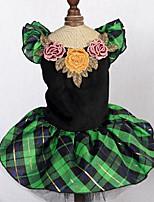 Hunde Kleider Hundekleidung Sommer Prinzessin Niedlich Modisch Grün
