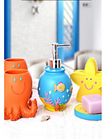 Cartoon Bathroom Accessory Set Resin /Mediterranean