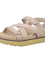 Women's Sandals Summer Mary Jane Fleece Outdoor Dress Casual Flat Heel Hook & Loop Walking