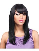 синтетический парик дешевые парики черный цвет прямые парики для женщин