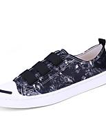Черный Светло-синий-Для мужчин-Для прогулок Для офиса Для занятий спортом Повседневный-Полиуретан-На плоской подошве-Удобная обувь