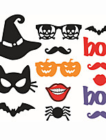 14pcs Halloween Photo Booth Props Photobooth Party Decoration