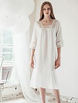 Lingerie en Dentelle Vêtement de nuit Femme Couleur Pleine-Mince Coton Aux femmes